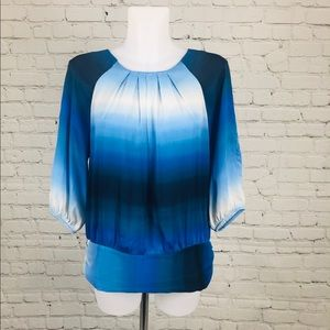 Blue Ombré Violet & Claire L/S Blouse Medium